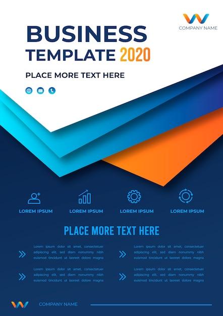 Business template design 2020 Premium Vektoren