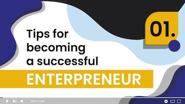 Business thumbnail vorlage Kostenlosen Vektoren