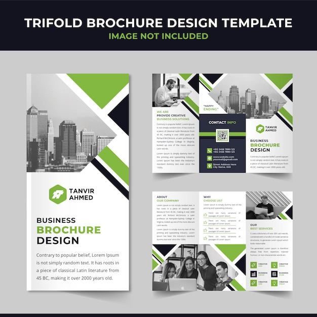 Business-trifold-broschüre-design Premium Vektoren