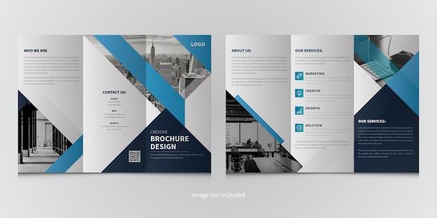 Business trifold broschüre vorlage Premium Vektoren