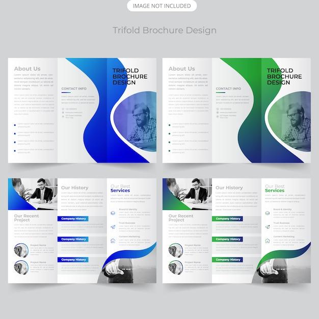 Business trifold-broschüren-design Premium Vektoren