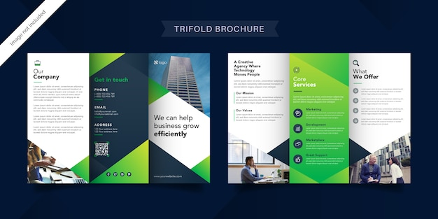 Business-trifold-broschürenvorlage Premium Vektoren