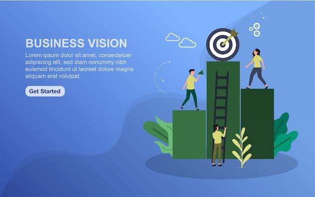 Business vision landing page vorlage. Premium Vektoren