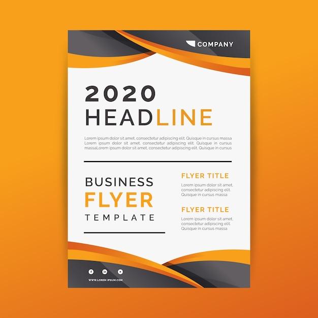Business vorlage abstraktes plakat | Kostenlose Vektor