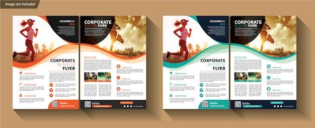Business-vorlage für flyer corporate Premium Vektoren