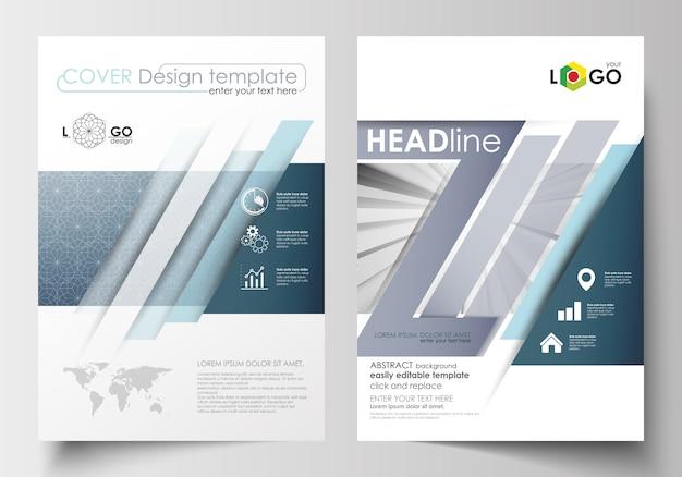 Business-vorlagen für broschüre, magazin, flyer, broschüre. cover-designvorlage Premium Vektoren