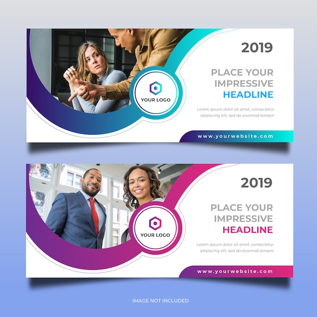 Business web banner design 30 Premium Vektoren
