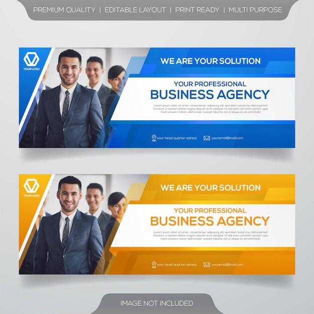 Business-web-banner-vorlage Premium Vektoren