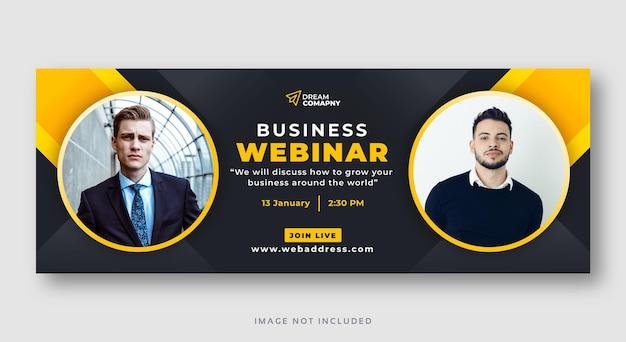 Business webinar konferenz social media cover web banner Premium Vektoren