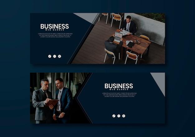 Business-webseitenvorlage Kostenlosen Vektoren