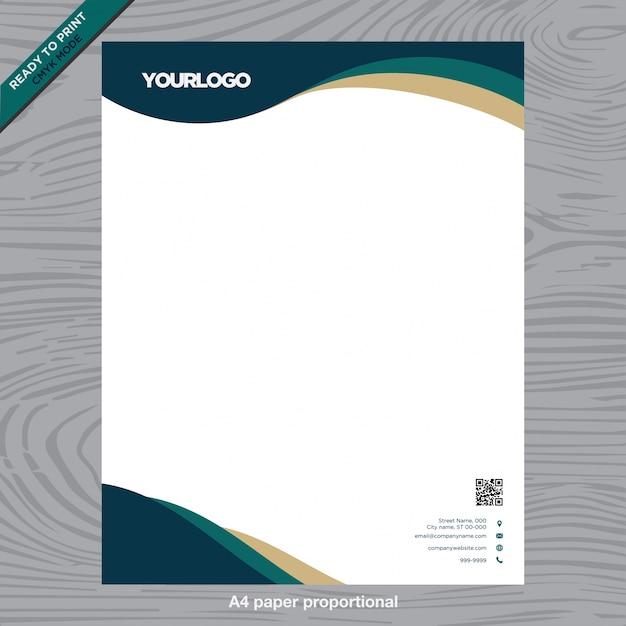 Business weißes Papier mit Logo Kostenlose Vektoren