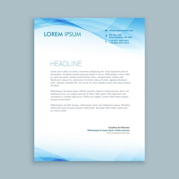 Business Welle Briefkopf Vorlage Download Der