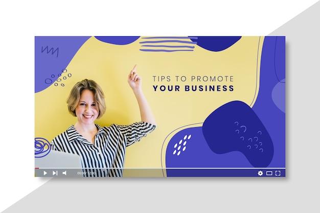 Business youtube thumbnail-vorlage Kostenlosen Vektoren