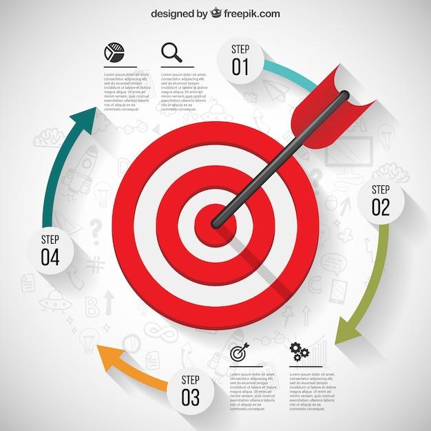 Business zielinfografik Kostenlosen Vektoren