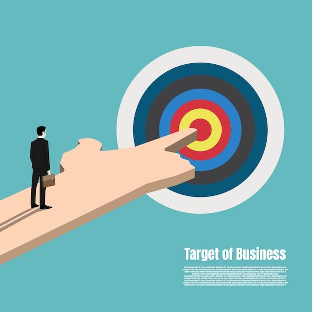 Business-zielmarktkonzept Premium Vektoren
