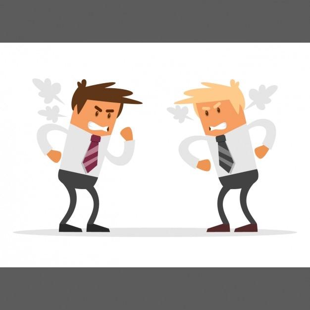 Businessmen wettbewerb Kostenlosen Vektoren