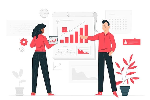 Businessplan-konzeptillustration Kostenlosen Vektoren