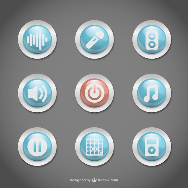 Buttons set Kostenlosen Vektoren