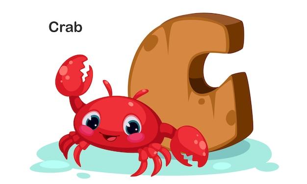 C für krabben Premium Vektoren