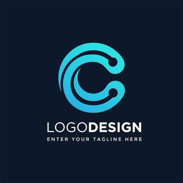 C-technologie-logo Premium Vektoren