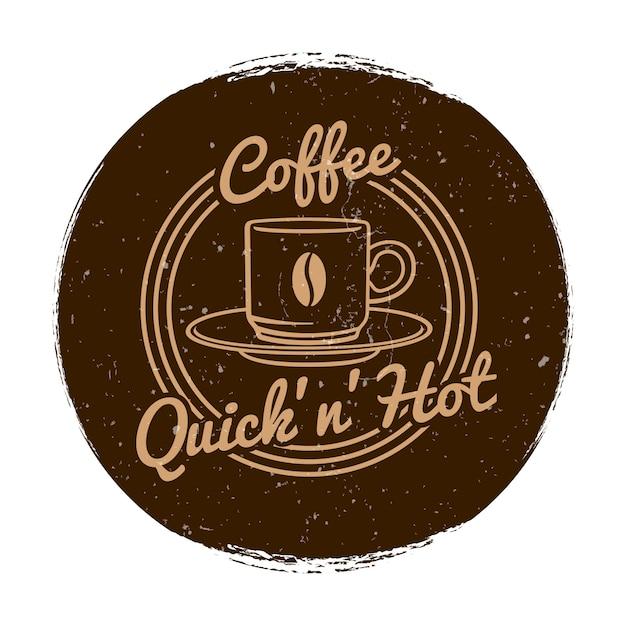 Café oder coffee-shop-markt label grunge-stil Premium Vektoren