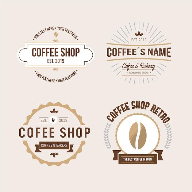Cafeteria retro-logo-auflistung Kostenlosen Vektoren