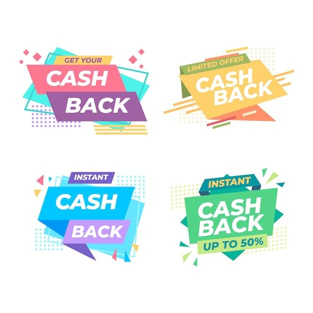 Cahback label collection konzept Kostenlosen Vektoren