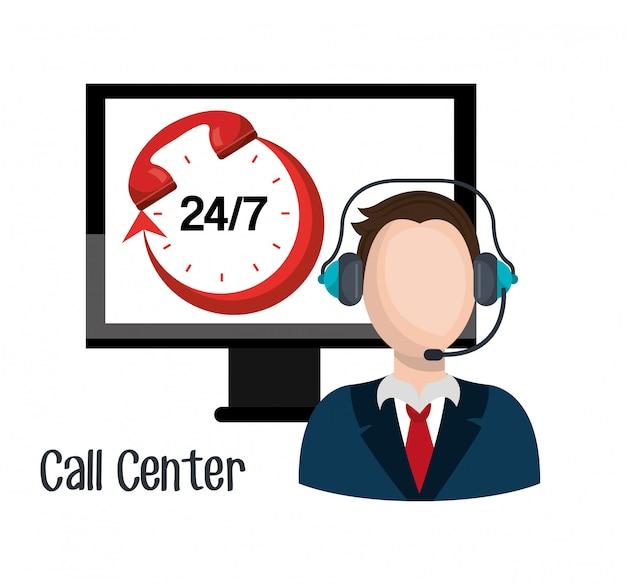 Call-center-design Kostenlosen Vektoren