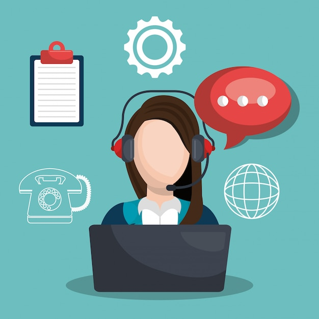 Call center Kostenlosen Vektoren