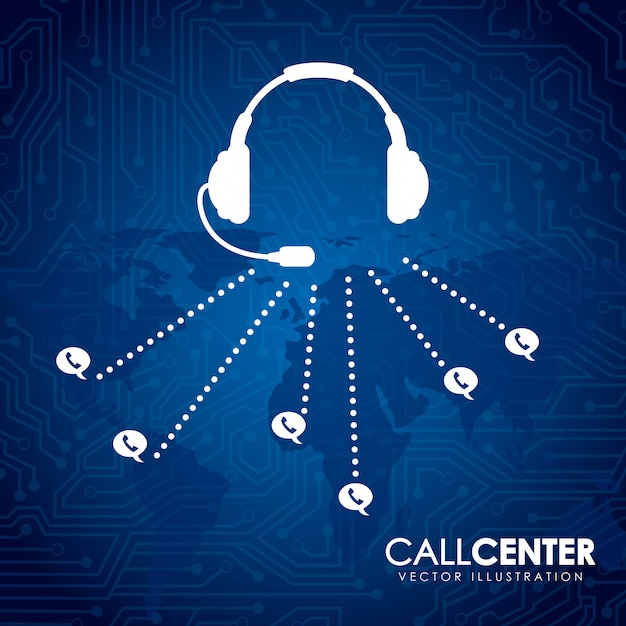 Call center Premium Vektoren