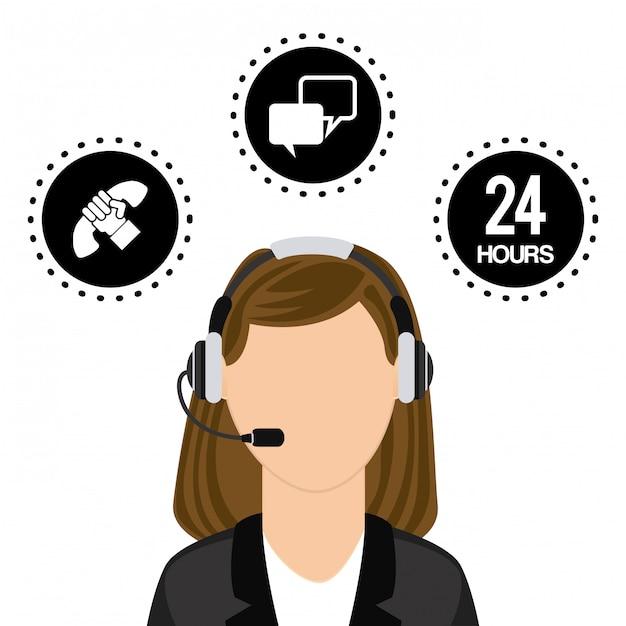 Call center Premium Vektoren