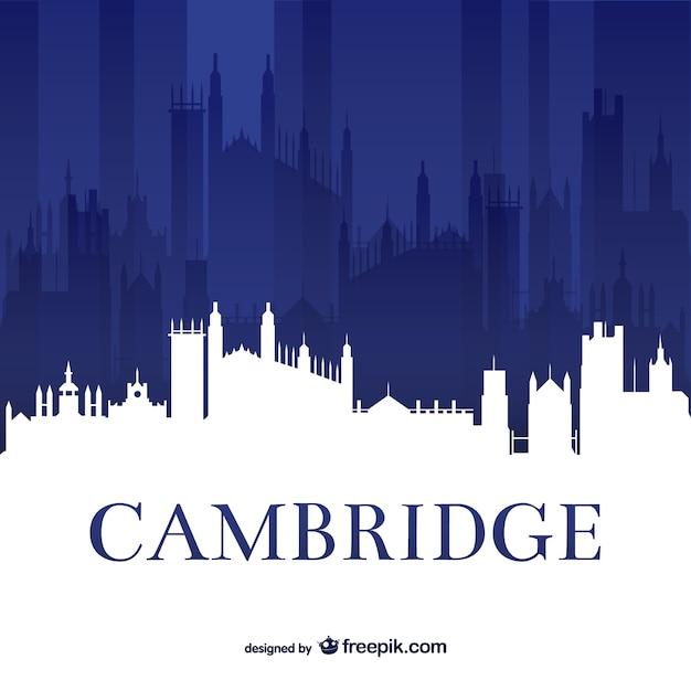 Cambridge university skyline Kostenlosen Vektoren