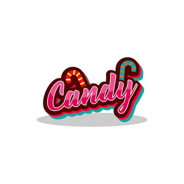 Candy-logo-vektor. Premium Vektoren