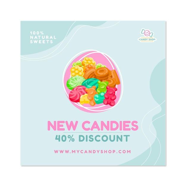 Candy shop flyer platz Kostenlosen Vektoren