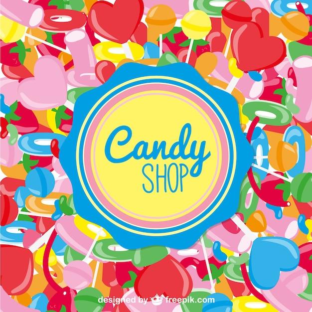 Candy shop vektor Kostenlosen Vektoren