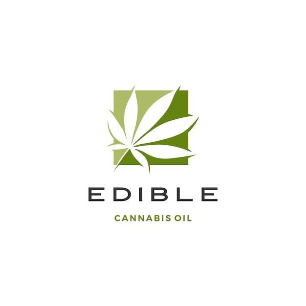 Cannabisblatt-logo Premium Vektoren