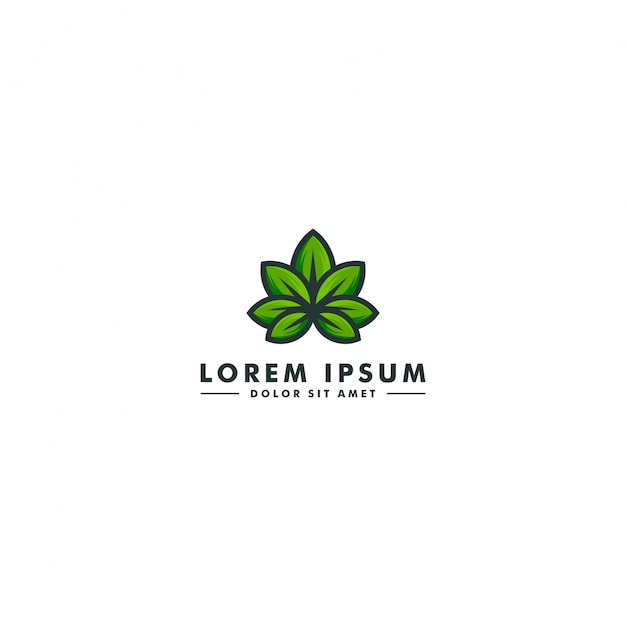 Cannabislabor-logo Premium Vektoren