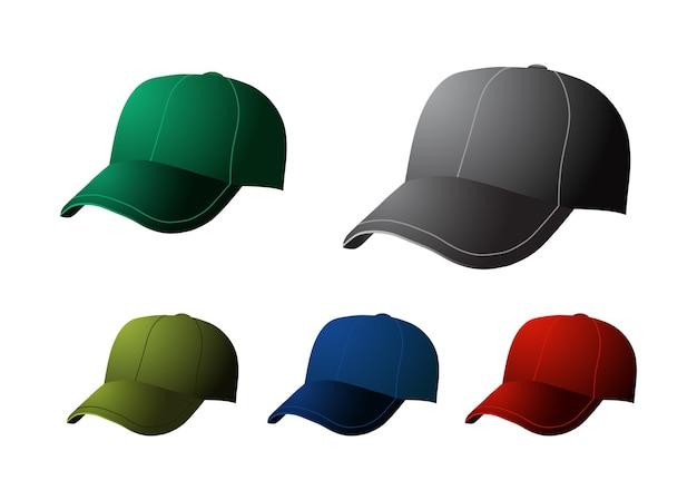 Cap baseball-symbol Premium Vektoren
