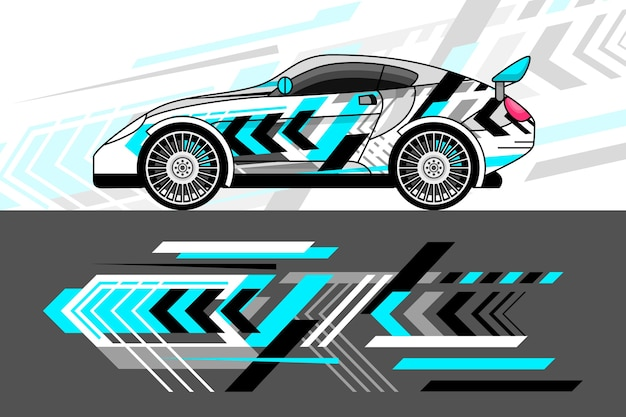 Car wrap design-stil Premium Vektoren