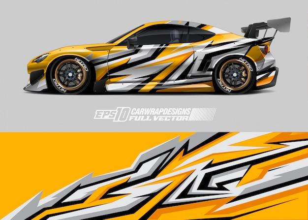 Car wrap designs Premium Vektoren