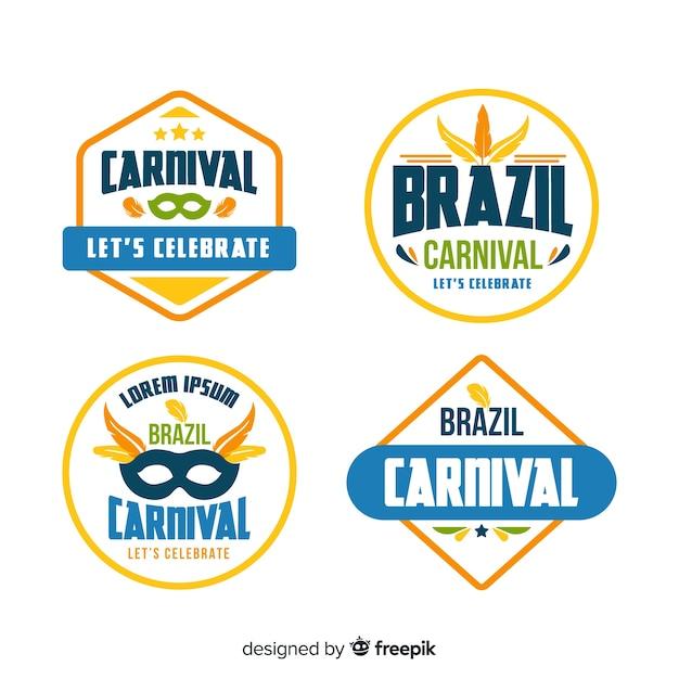 Carnival-label-sammlung Kostenlosen Vektoren