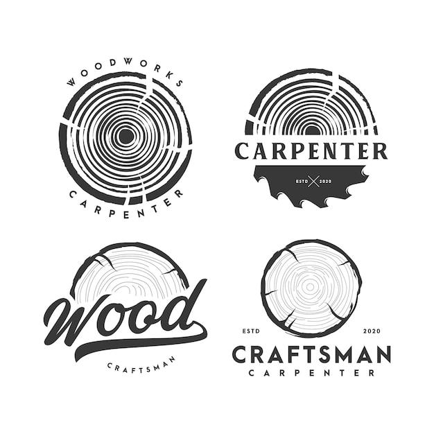 Carpenter logo illustration Premium Vektoren