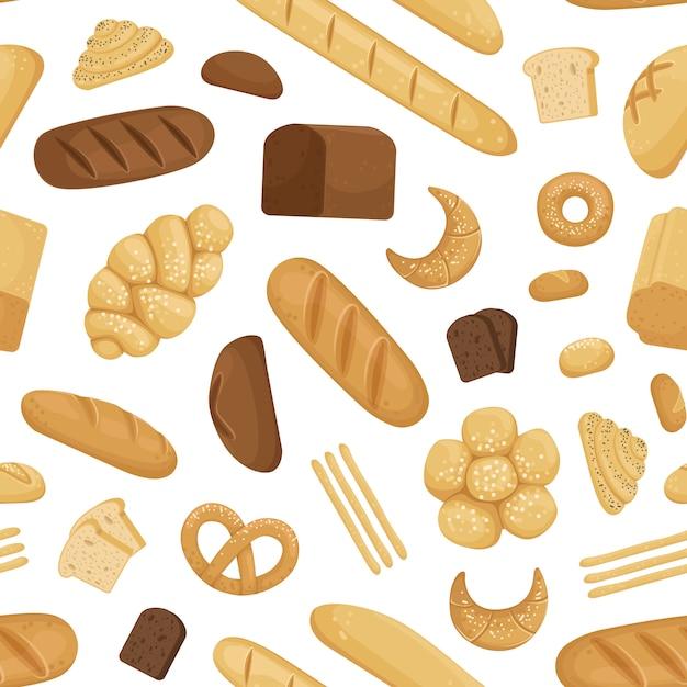 Cartoon bäckerei muster oder illustration Premium Vektoren