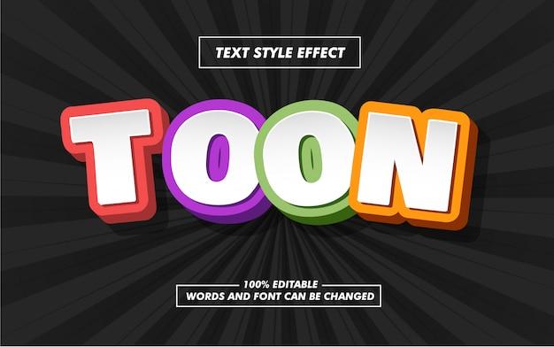 Cartoon bold text style effekt Premium Vektoren