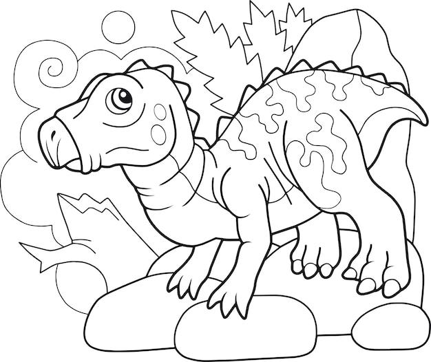 Cartoon dinosaurier iguanodon Premium Vektoren