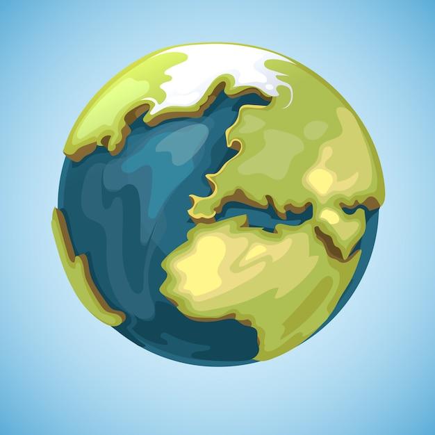 Cartoon erde planet globus Premium Vektoren