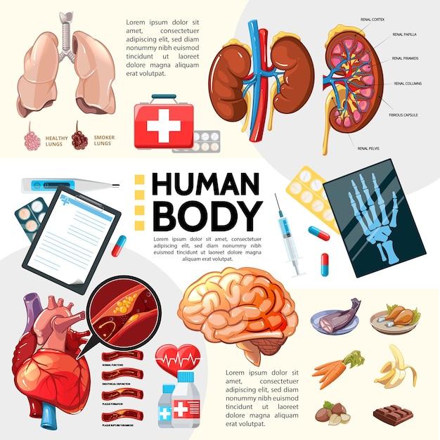 Cartoon gesundheitswesen vorlage Kostenlosen Vektoren