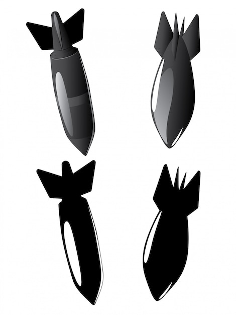 Cartoon-luftbomben-sammlung Premium Vektoren