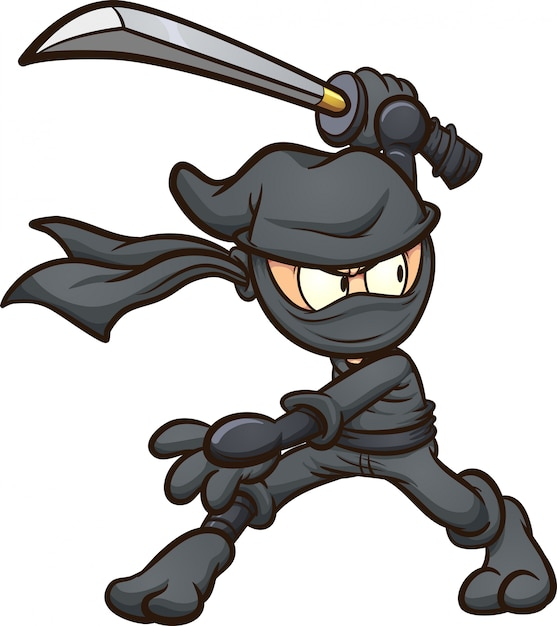 Cartoon-ninja Premium Vektoren