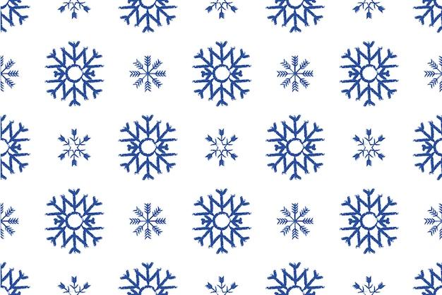 Cartoon schneeflocken weihnachten nahtloses muster. das muster eignet sich für postkarten, stoff, geschenkpapier oder poster. Premium Vektoren